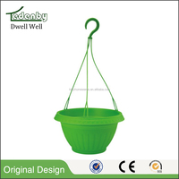 Customized hanging plastic flower pot for sale
