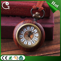 Vintage designed roll face annatto pocket watch red line pocket watch