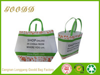 Eco recyclable cheapest foldable non woven bag pass ISO9001