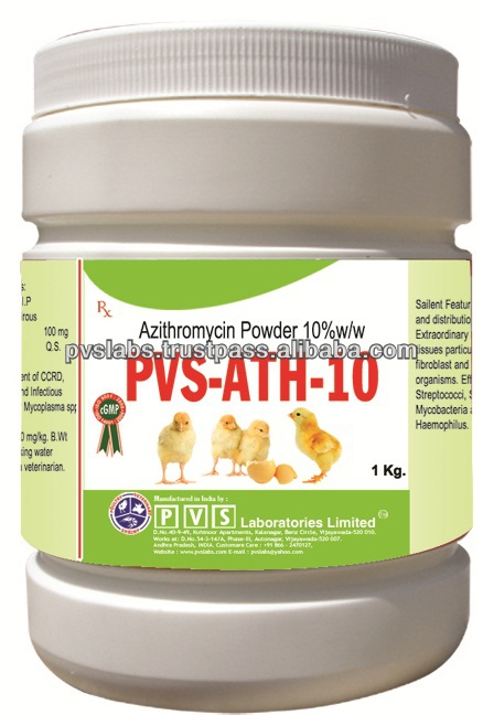 Azithromycin Powder 10% antibiotic medicine for poultry