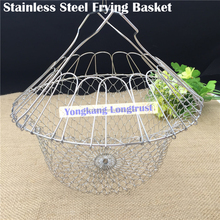 Factory direct 304 stainless steel Multi-function Chef Folding Basket