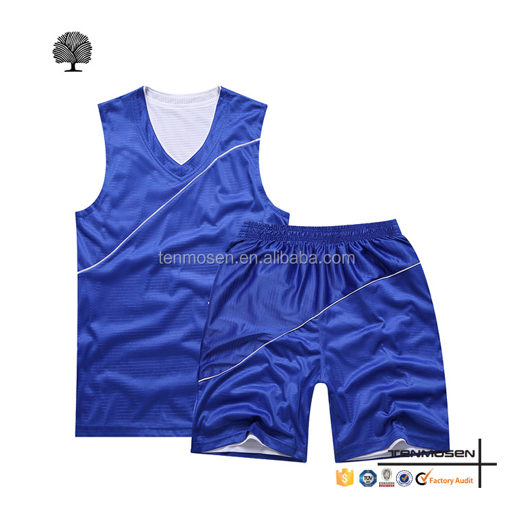 2016 new design latest fashion reversible basketball uniform jersey wholesale