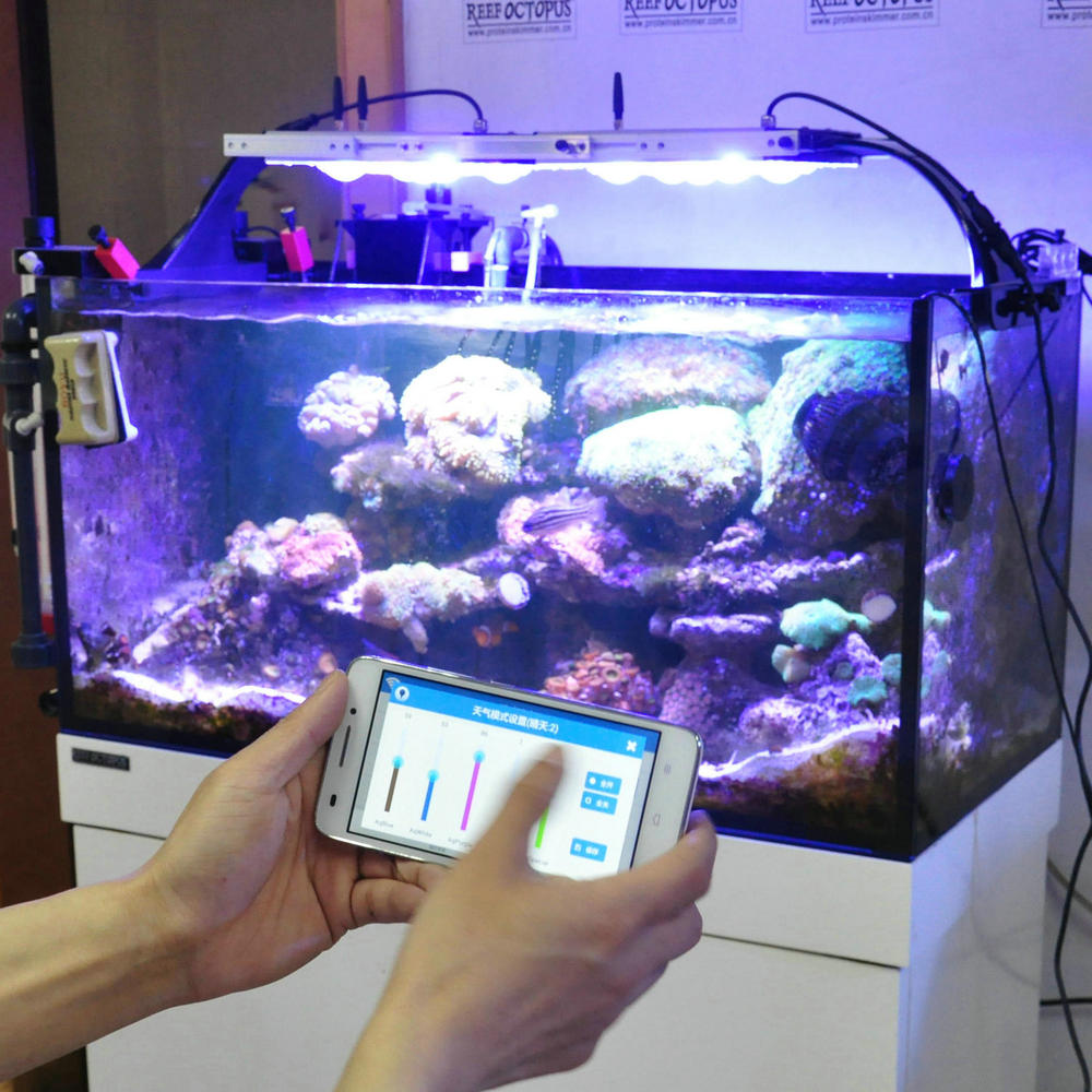 WIFI control 5 channel programmable CTLite G4 150w coral reef used marine led aquarium lighting