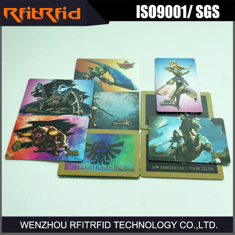 13.56MHZ Ntag215 chip printable nfc amiibo game cards