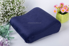 2016 hot saling Rectangle memory foam neck pillow,pillow cover embroidery design