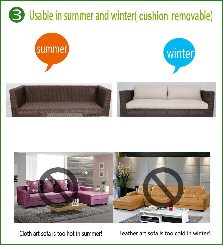 Rattan Contracted Leisure Semicircle Sofa Set