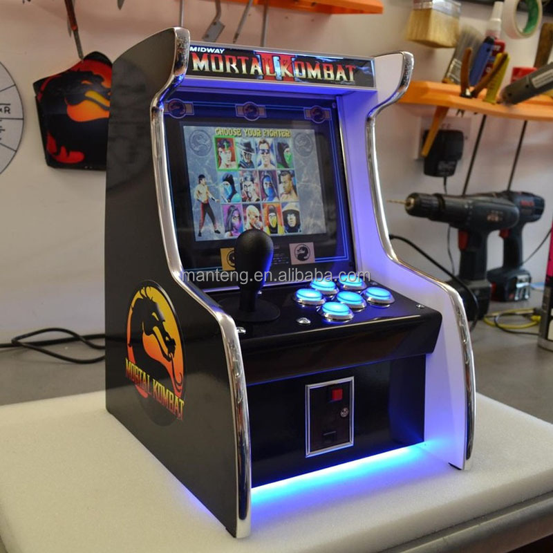 19 Inch Lcd Desk Arcade Game Machine With 512 In 1 Jamma