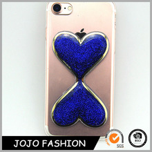 Heart shape phone cover transparent cell phone cases