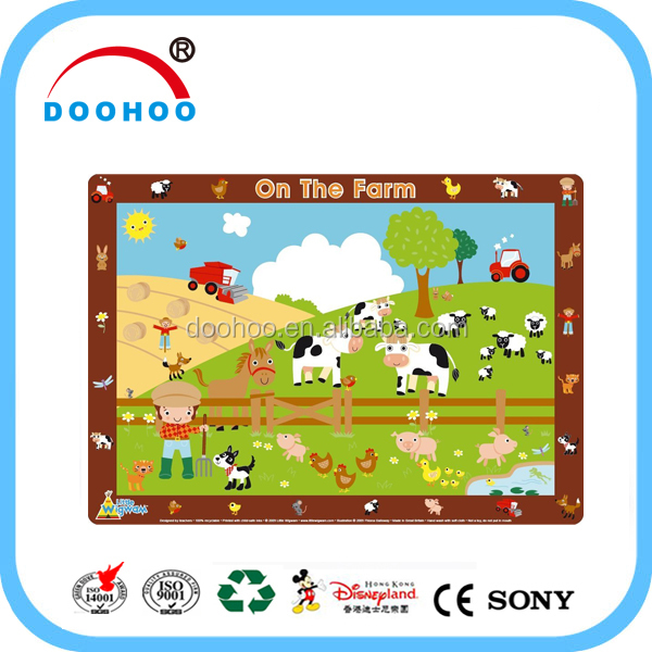 Recyclable PP material Plastic Placemat for kids