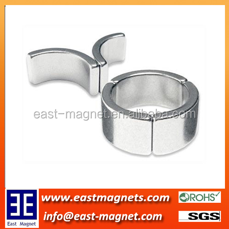Sintered NdFeB Magnets for Gearless Motors/nickel coated arc magnet for motor