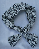 Fashion snake pattern printed knitted bow fabric headband