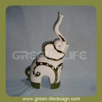 Electroplating ceramic elephant stand
