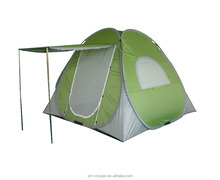 4 person spring steel wire pop up tent with canopy