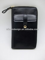 Custom zipper style PU leather book cover