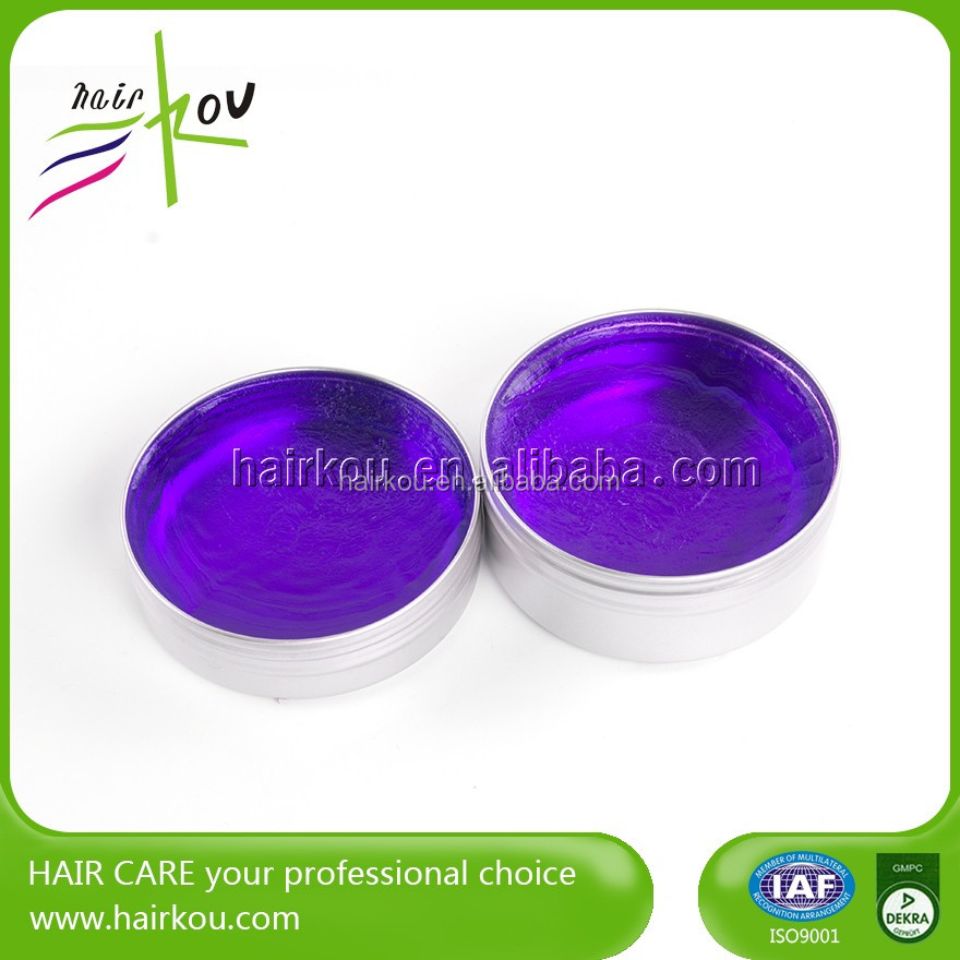 Strong-hold water soluble korea hair wax pomade brands