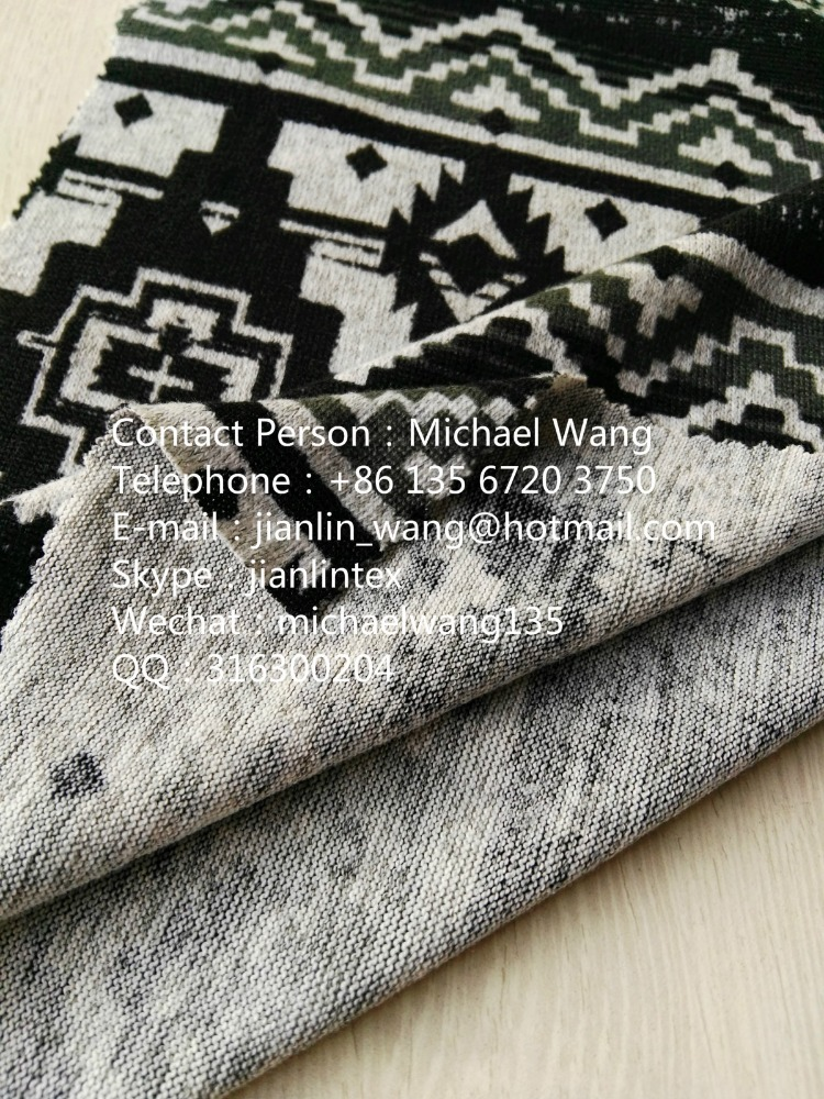 jishengxiang knitting polyester angora print low cost construct material