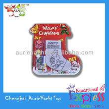 best selling christmas gifts 2013,christmas stockings painting DIY ZH0905669