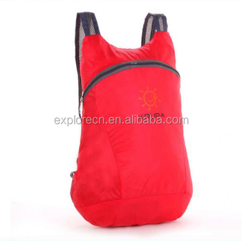 fashion foldable nylon backpack bags for promotion