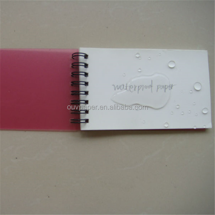 Custom school plastic cover YO binding waterproof paper notebook