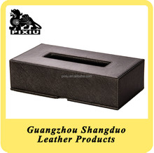 China Supplier New Promotional Leather Table Tissue Holder