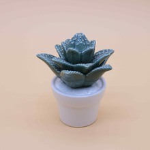 green glazed ceramic cactus for home decoration