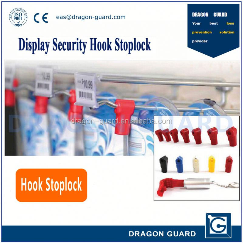 Supermarket security display hook stop lock & EAS stop lock for hooks in good quality & EAS high security stop lock