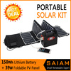 New Generation Portable Solar Power System for Camping and Emergency Power Supply