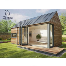 Easy Assemble One Bedroom Light Steel Structure Flat Roof Prefab Container Home Lowes Prefab Home Kits