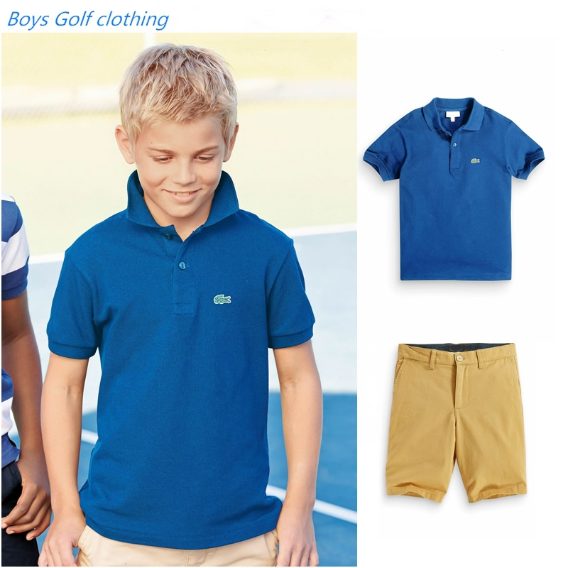 Buy 2015 Summer Children Sports Suit Boys Golf Clothing Sets Blue