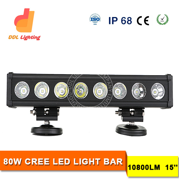 waterproof ce rohs 10800lm 80w car roof light bar led for offraod, truck, suv, atv