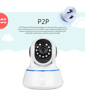 2016 home security system mini ptz p2p wifi wireless ip camera cell phone control night vision 10m email alarm BS-IP24