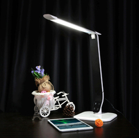 2016 new arrival aluminium alloy led table lamp 5 level touch dimmer flexible arm led desk lamp with different lights