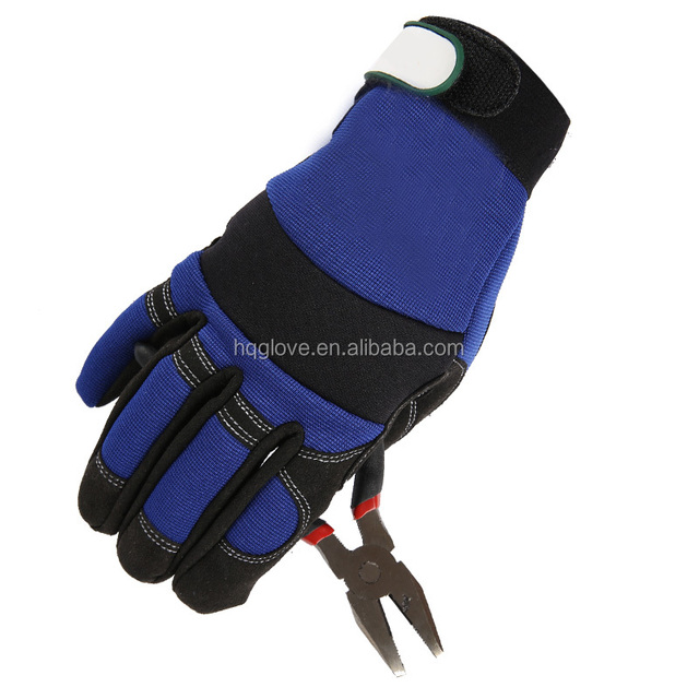 Heavy duty hand protection goat skin leather mechanic gloves