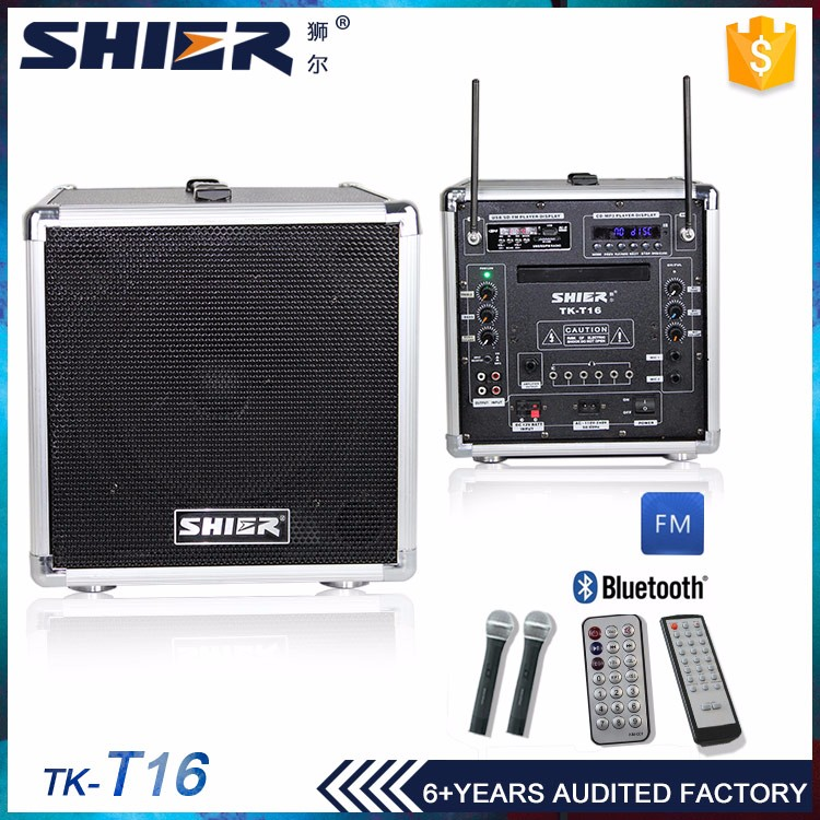 30w portable speaker system volume control with mp3/usb/sd/cd