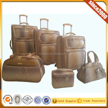 new design 4 wheels 5 pcs luggage set