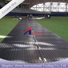Anti-slip durable plastic safety temporary tracking ground road floor protection mat