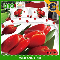 3d flower printing 7 pcs bedspreads single, edredon