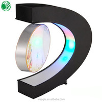 Two sides C shaped magnetic levitation photo frame with LED lights valuable unique wedding anniversary gifts by year