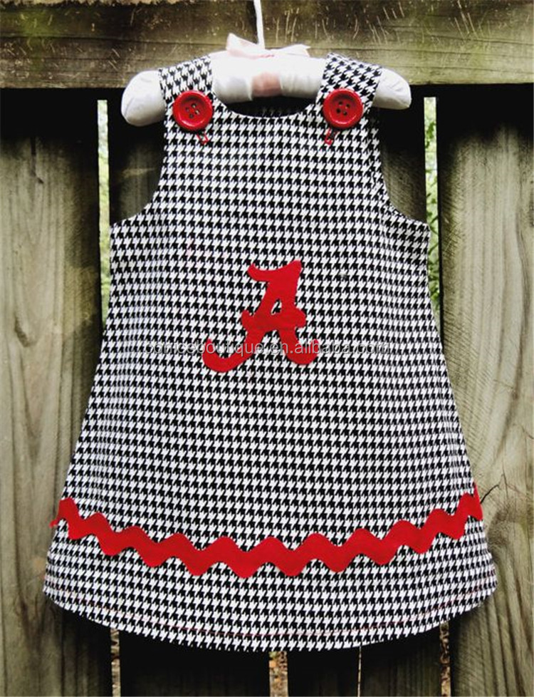 hot selling summer elephant qppliqued A line baby dress