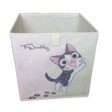 Easy to Clean Foldable Book Box Fabric Cube