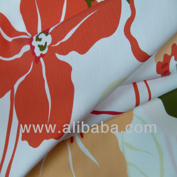 Wrinkle-Free, Printed Cotton Fabric