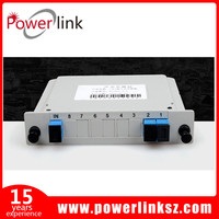 Cassette Type 1x2 Fiber Optic Splitter