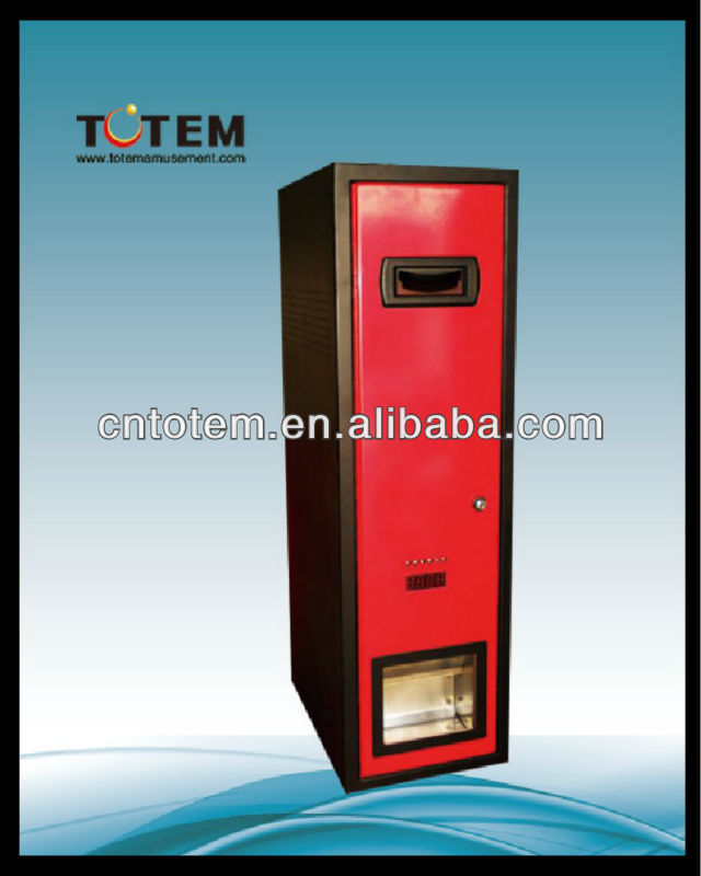coin and cash deposit and change machine
