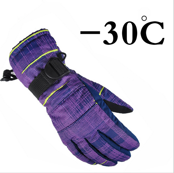 new winter waterproof ski gloves chidlren kids women men skiing gloves windproof breathable Camouflage pink S M L XL