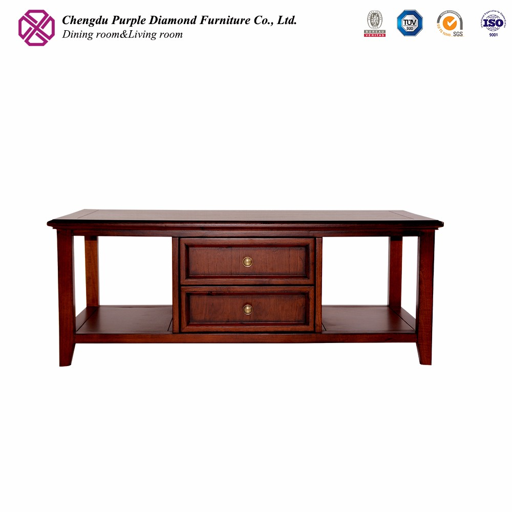 Modern living room furniture coffee table design wooden teapoy designs