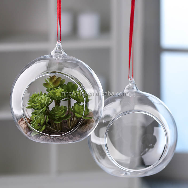 Hanging Glass orb ball Terrarium Ornaments MH-12834