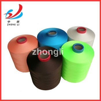 100% polyester yarn DTY color 150D 300D manufacturing