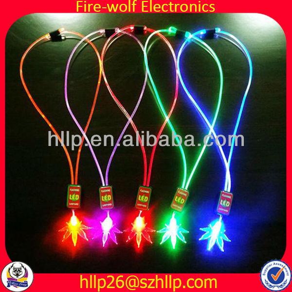 HOT Fashion Necklaces 2014 led flashing Fashion Necklaces Manufacturer