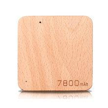 Wood Power Bank 7800MAh external Portable Slim Backup Battery Charger UltraThin