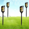 Outdoor LED Fire Lamp Energy Lighting Rechargeable Flickering Landscape Light Flame Effect Lamp Solar Torch Light